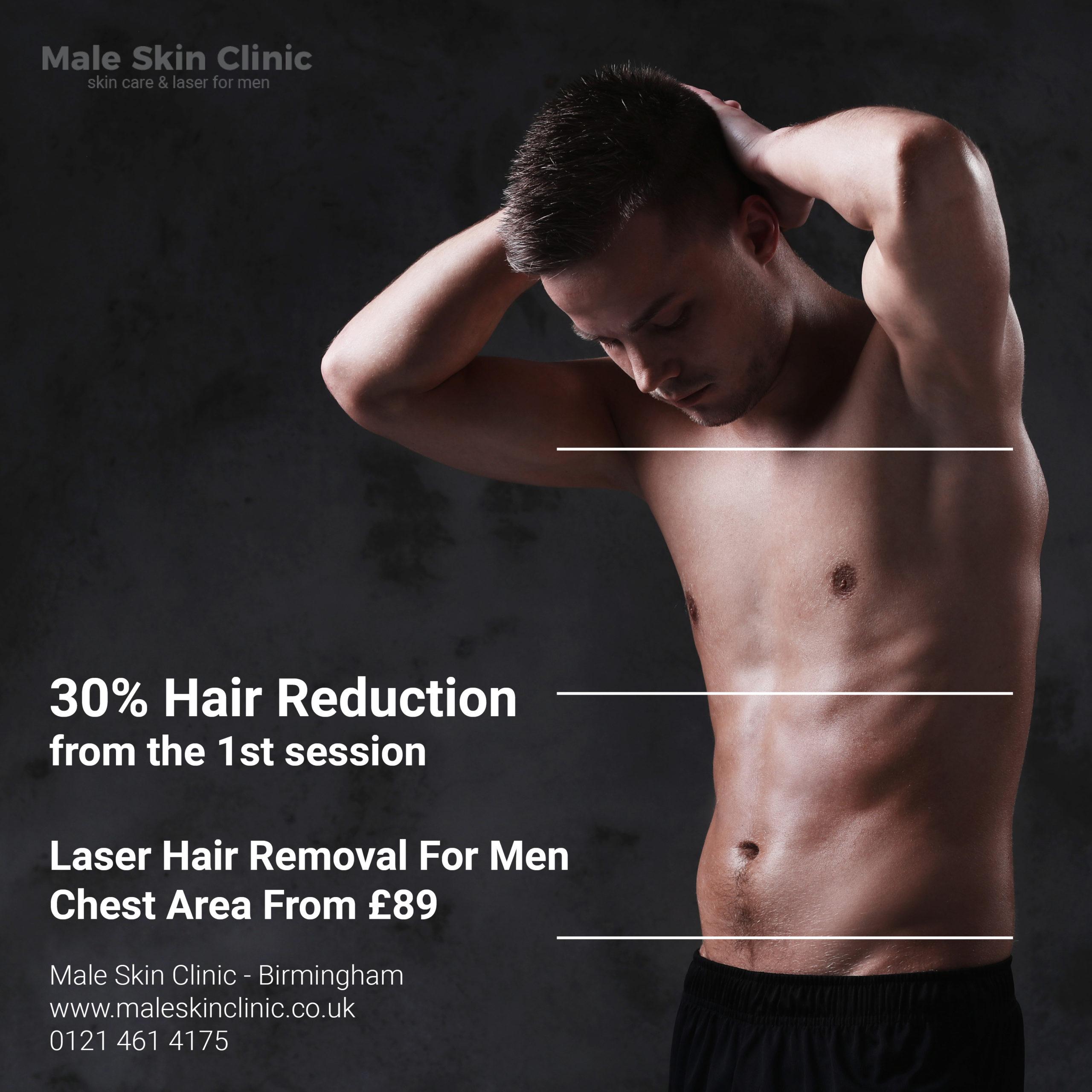 30% hair reduction for men